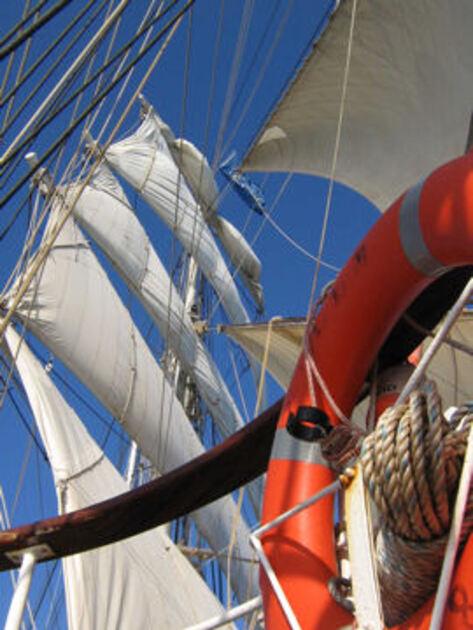 Un trois-mâts barque