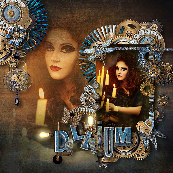 KIT FANTASMAGORIA - DEEP DELIRIUM - STEAMPUNK BY DOUDOU'S DESIGN
