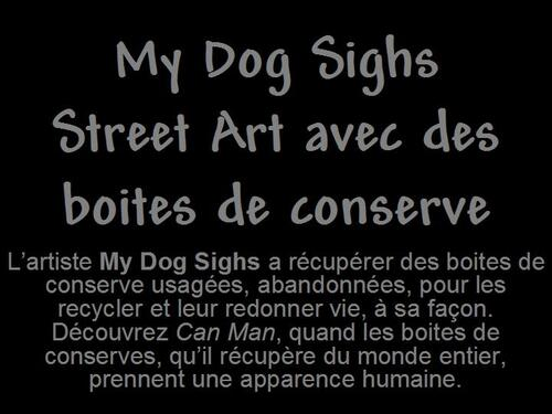 PPS MES CREATIONS My Dog Sighs Street Art avec des boites serge