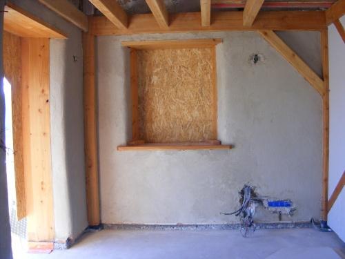 Construction maison bois-paille d'Anne-Marie