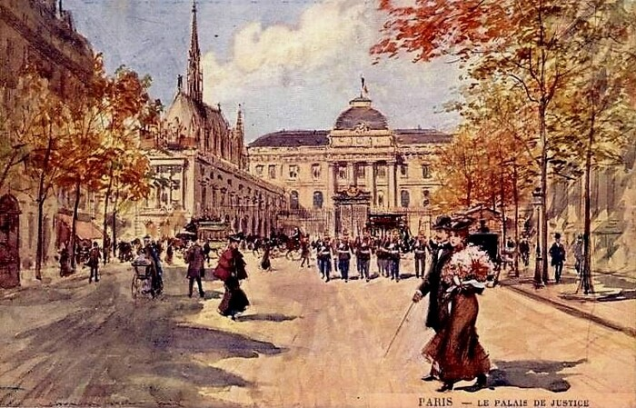 Le Palais de Justice de Paris par Georges Stein