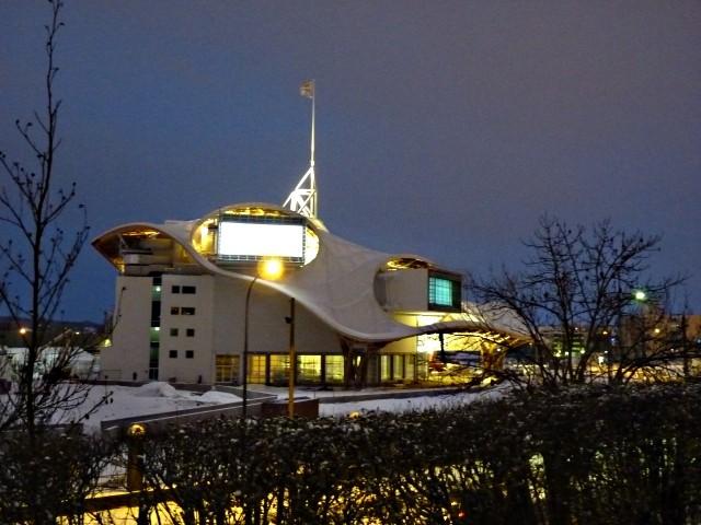 Centre Pompidou Metz neige nuit 4 20 12 09