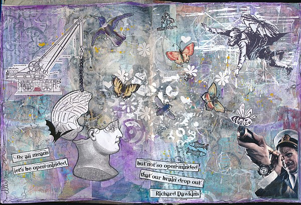 Si j'étais une citation - page d'art journal