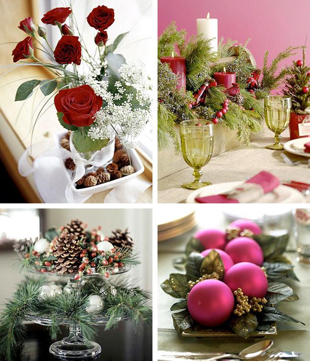 Centres de table de Noël
