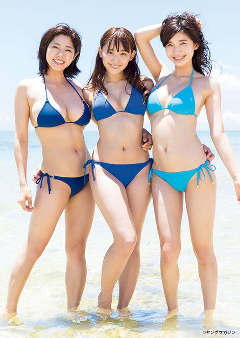 Magazine : ( [Young Magazine] - 2017 / N°35 - Minami Wachi, Nana Asakawa, Yuka Ogura & MIYU Staring )