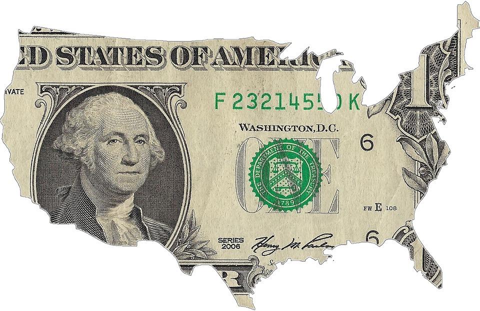 Usa, Carte, Dollar, Amérique, L'Argent
