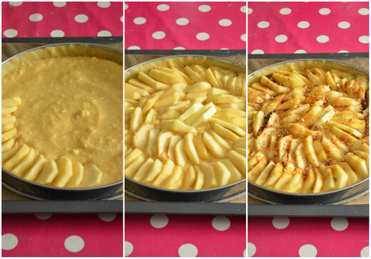Tarte aux Pommes & à la Crème d'Amande { Pralin Caramel}
