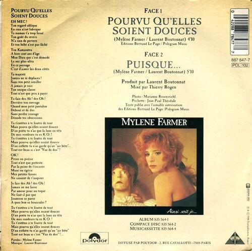 Mylene Farmer - Pourvu Qu'Elles Soient Douces 02