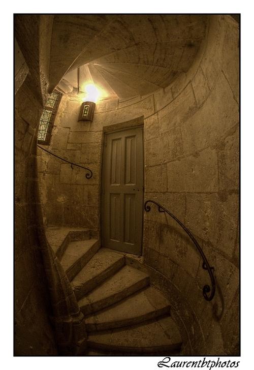 Escaliers du chateau de Chaumont sur Loire