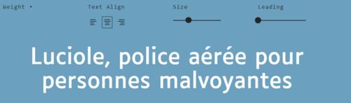 Luciole : nouvelle police pour personnes mal voyantes