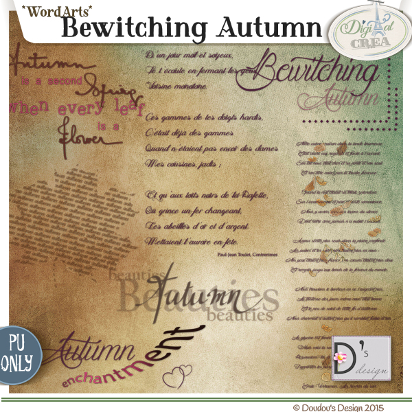 BEWITCHING AUTUMN by Doudou's Design