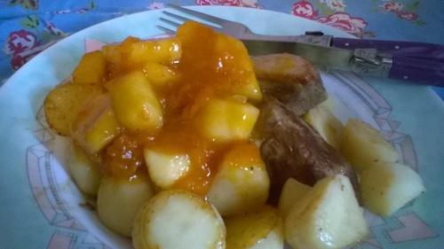 canard sauce à l'abricot