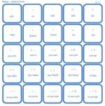 Bingo pour apprendre les chiffres japonais