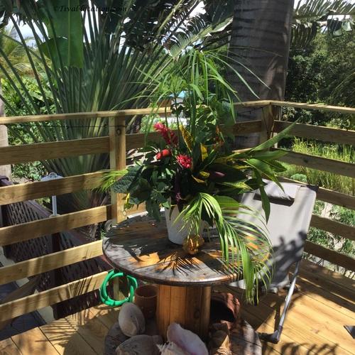 Nouvelle terrasse à Tival-location