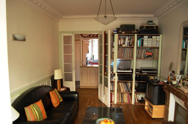 Salon et salle a manger vu sur la porte d entree foto for La porte de salon