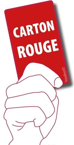 Carton rouge !!!