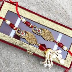Send Eye Catching Fancy Rakhis to Your Brother in just a Few Clicks