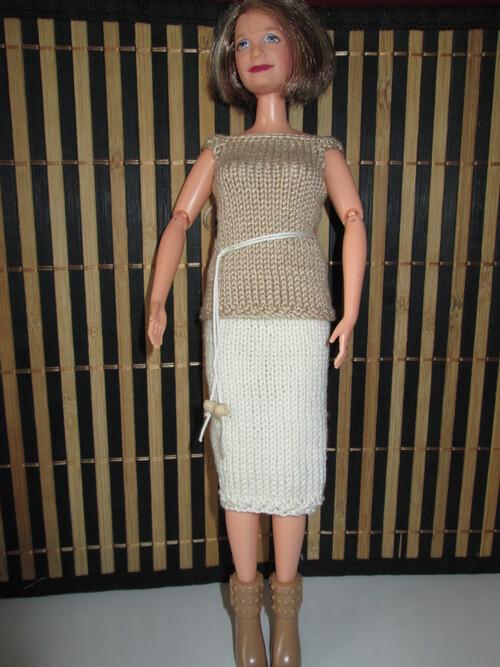 Top et jupe pour mamy barbie