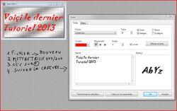 Etape 88 Comment faire un petit texte animée sur une image