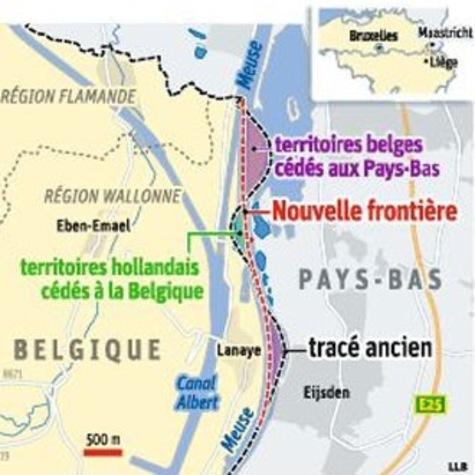 La Belgique perd quinze hectares au profit des Pays-Bas