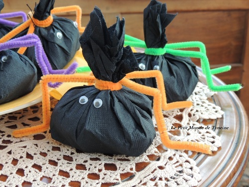 Sachets de bonbons Araignées pour Halloween !! Niar niark ...