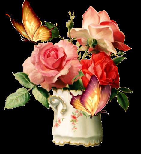 tube fleurs dans vase