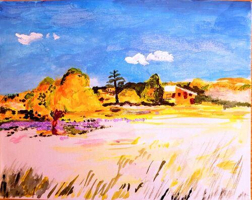 Sault dans le Vaucluse, par Emile