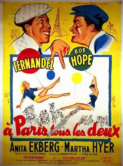 A PARIS TOUS LES DEUX - BOX OFFICE FERNANDEL 1958