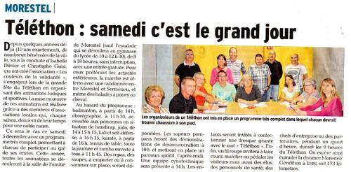 Article du Dauphiné Libéré du 3 décembre 2015