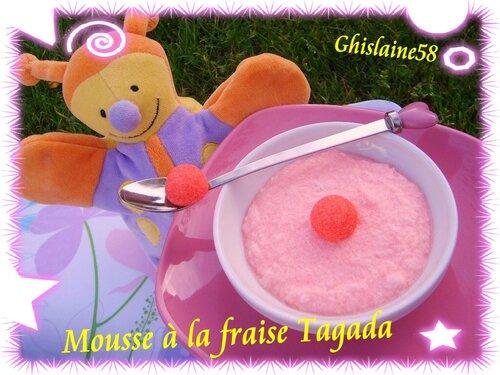 Mousse à la fraise Tagada