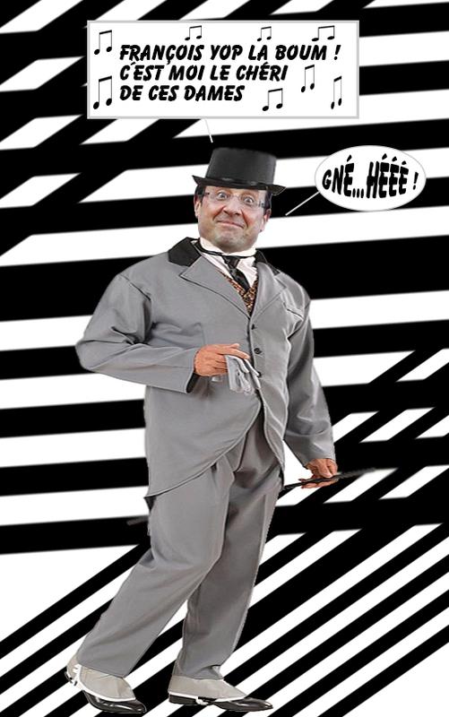 hollande-costume-gris-bulle-chanson
