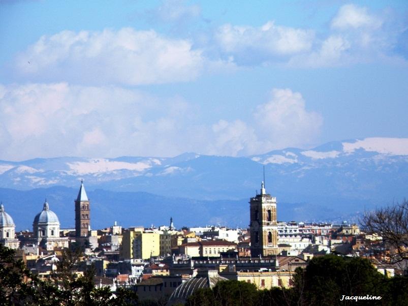 Rome et la neige...