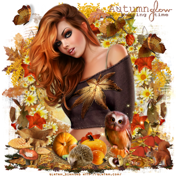 "Tutoriel "" Autumn Glow"" de Josie psp"