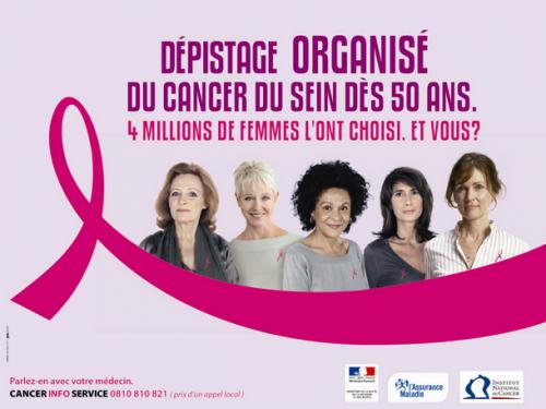 JOURNEE DU DEPISTAGE DU CANCER DU SEIN. LES FEMMES A PARTIR DE 50 ANS ONT DROIT GRATUITEMENT A CE DEPISTAGE