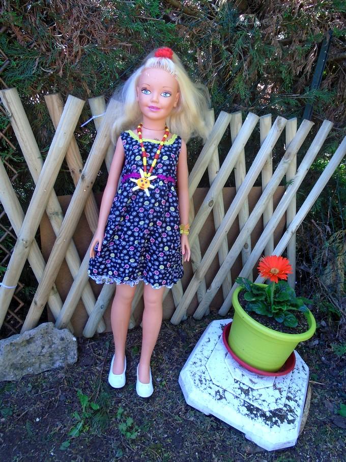 Sabine avec sa tenue d'été