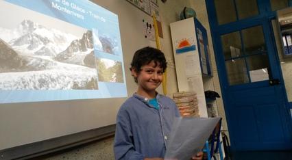 Emilio présente le Mont Blanc