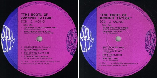 JOHNNIE TAYLOR - The Roots Of Johnnie Taylor - Soul City SCB-2 - 1969