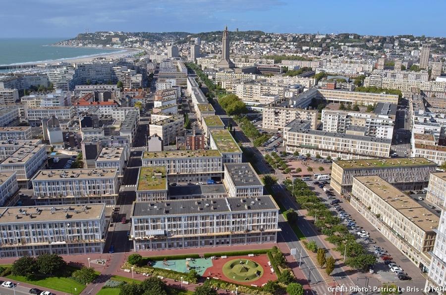 vue aérienne du Havre