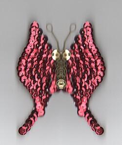 """Création papillon avec """" récup """" / 2 exemple de création"""