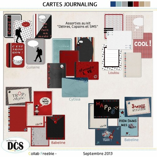 DCS nos Cartes journaling de Septembre ...