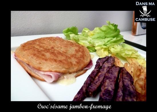 croc sésame jambon fromage
