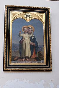 La Vierge et le Christ enfant debout sur l'établi de Josep