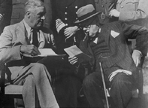 Franklin D. Roosevelt et Churchill à Casablanca