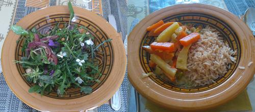 Yoga et salades sauvages