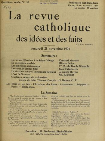 J. Schyrgens - L'Antoinisme (1924)