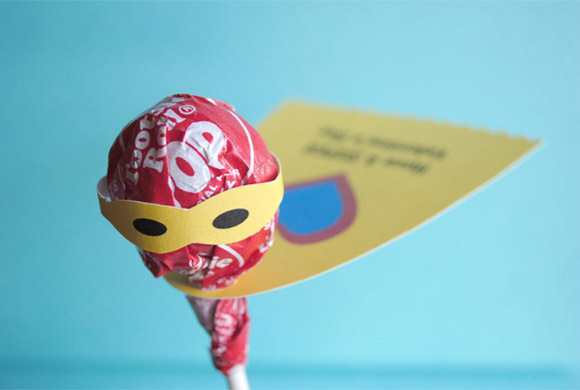 superhero lollipop printable