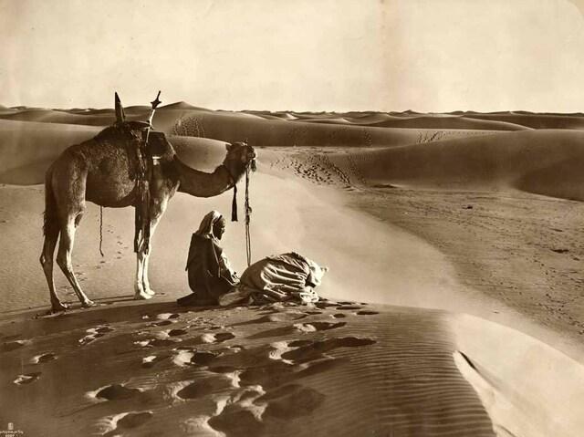 Prière dans le désert. 1910
