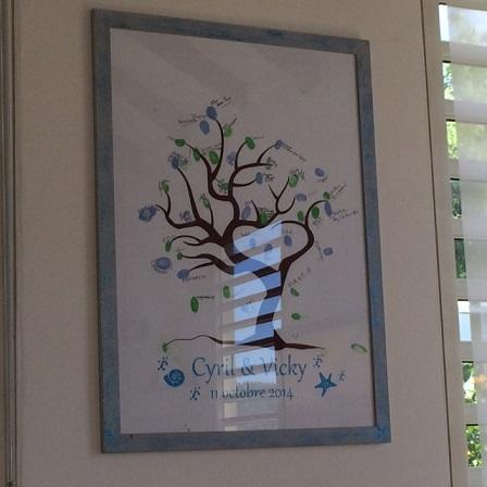 Poster arbre à empreintes thème mer