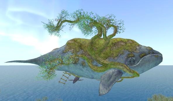Baleine-ilot Flottant