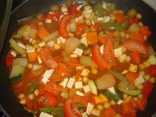 Couscous végtalien au tofu mariné